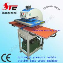 Pression hydraulique T-Shirt impression Machine40 * 60cm Double Station thermique transfert Machine automatique de l'huile pression chaleur Press Machine Stc-Yy01