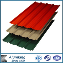 Feuille de toiture en aluminium avec couleur revêtue