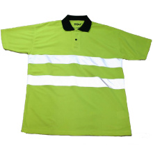 Зеленая светоотражающая защитная футболка
