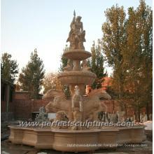 Marmorbrunnen für Outdoor-Wasser-Feature (SY-F352)