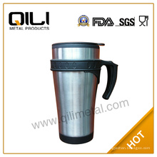 taza de auto 450ml acero inoxidable de doble pared con la manija