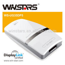 Usb3.0 to Displayport Multi-Displaying Adapter .Add up to 6 Monitors by USB3.0 cable for Windows