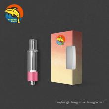 Canada trending bottom airflow empty 1ml vaporizer cartridge AG03 no lead all glass cbd cartridge with ceramic coil