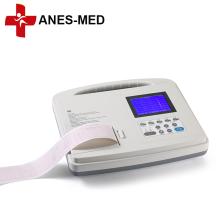 Máquina de ECG portátil de eletrocardiógrafo de canal único de 12 derivações de alta qualidade