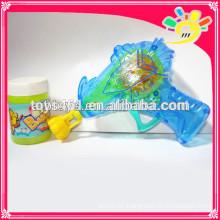 Transparente Reibung Blase Pistole Spielzeug, blinkende Blase Pistole für Kinder mit Blase Wasser