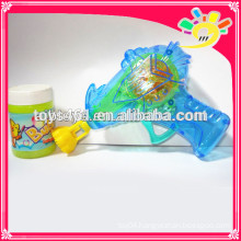Transparent Friction Bubble Gun Toy,Flashing Bubble Gun For Kids With Bubble Water