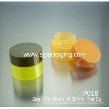 5g 10g baratos de plástico reciclado frascos de cosméticos