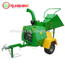 22HP diesel mobile wood chipper machine