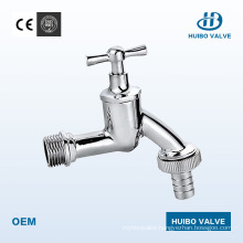"""Chrome Plated Brass Bibcock Valve 1/2"""" -3/4"""" Inches"""