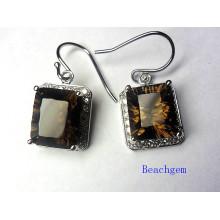 Popular 925 Sterling Silver Quartz Jewelry Earrings
