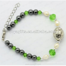 Мода алмаз браслет жемчужина