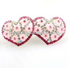 Presentes do ornamento do cabelo do rosa do coração do amor os melhores para o dia de Valentim