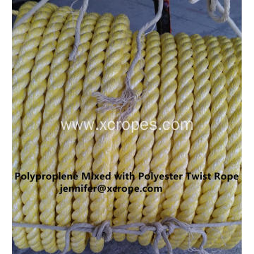 Polyproplene Mixed with Polyester Twist Rope