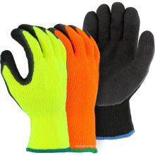 cheap factory real manufacture nitrile coated latex winter thermal work gloves