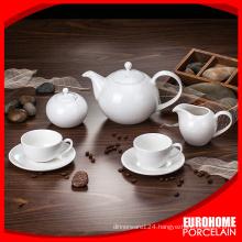 Super Plain White, Decal Printed, Personalized Ceramic Bone China Porcelain Tea Coffee Pots