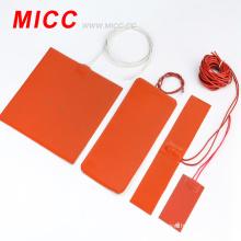 Silicone rubber ribbon heater
