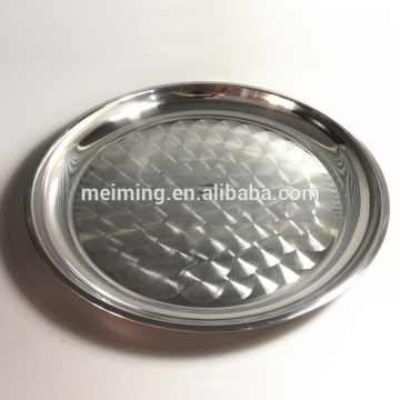 Popular stainless steel serving dish, round serving tray