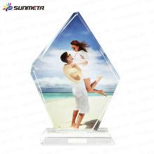 Sunmet sublimation cristal photo cadre souvenir cadeau trophée --- fabricant