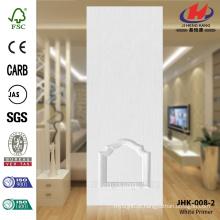 JHK-008-2 de alta qualidade econômica branca inicial porta pele popular Manumacture graciosa porta de vidro mosaico