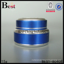 2015 blue color 15g cosmetic jar Shanghai