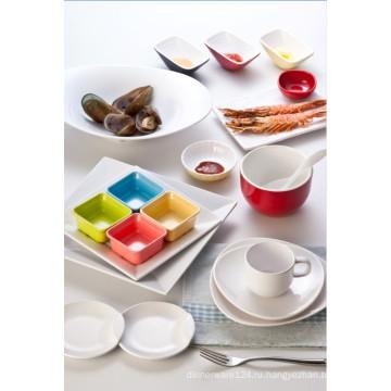 Двухцветный Сакуе меламина блюдо/соус блюдо /красочные блюдо (cc10209)