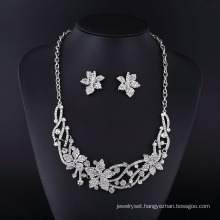 2016 Canada Maple Leaf Rhinestone Zinc Alloy Jewelry Necklace Set