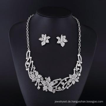 2016 Kanada Maple Leaf Strass Zink Legierung Schmuck Halskette Set