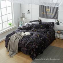 Korean Style Cashmere Bedding Sets Coral Fleece Flannel Bedding