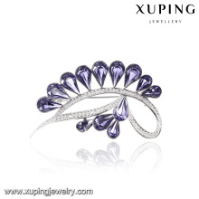 00063 Xuping 2017 top design channel brooch pin noble crown brooch crystals from Swarovski