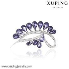 00063 Xuping 2017 top design canal broche de nobre broche de coroa de cristais de Swarovski