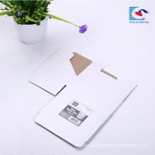 Custom Printed Recycled Baby Sock white Corrugated Mailing Box