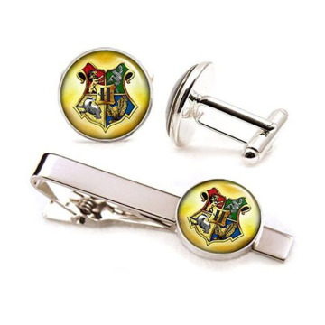Tie Bar tono argento di Harry Potter di alta qualità