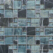 Germany Style Background Wall Colour Mixture Marble Glass Mosaic Tile