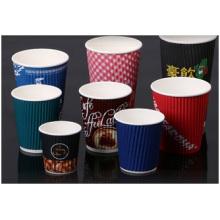 Tasses en papier colorées adaptées aux besoins du client, nouvelles tasses de papier imprimées