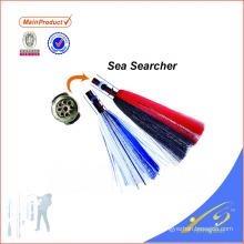SKL025 New metal head sea octopus skirt fishing lure trolling lure