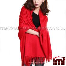 Толстая зимняя длинная кашемировая шаль из платка с шарфом