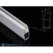 Нижняя направляющая для жалюзи из алюминия толщиной 0,6 мм, длина 40,3 мм