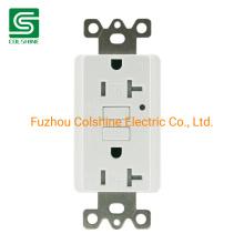 American Standard GFCI 20AMP 125V Resistant Receptacle Duplex Outlet White