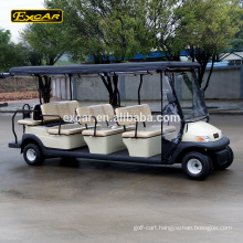 Excar 11 seat golf cart electric sightseeing bus china mini bus shuttle bus