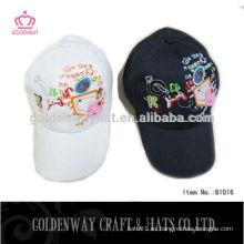 6 gorras bordadas del panel con el logotipo de encargo