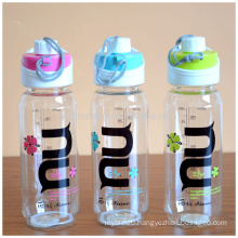 Space water bottle out door sports bottle clear plastic drinking water bottle