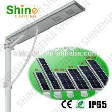 Luz de calle solar todo en un ahorro de energía solar ahorro de energía verde 12w Shinehui shenzhen