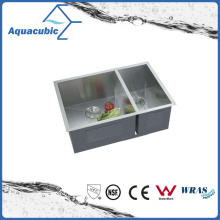 Double Bowl Handmade Stainless Steel Cupc Kitchen Sink (ACS2920A2)