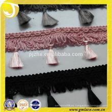 Cuerda trenzada alfombra franja de borla para accesorios de cortina en stock