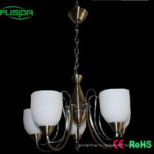 Светильник подвесного светильника белого цвета европейского стиля белого стекла