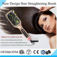 Fast Hair Straightening Brush Iron with Mch Heater