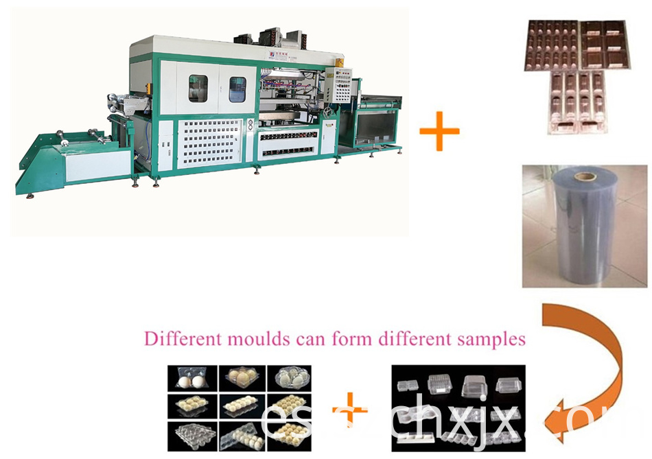 Fully automatic clamshell thermoforming machine