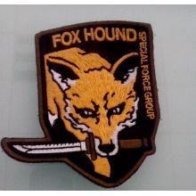 Remendo irregular do emblema do bordado do ouro da imagem do lobo (GZHY-PATCH-004)