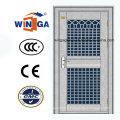 Chine Style Entrée extérieure Porte en verre de sécurité en acier inoxydable (W-GH-23)