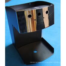 Caixa de aço inoxidável com acabamento espelhado para máquina de café
